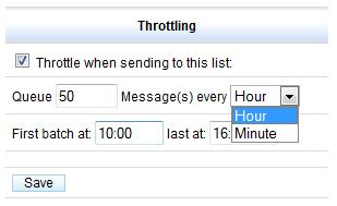 throttling messages